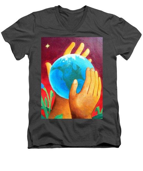 What A Wonderful World ... Men's V-Neck T-Shirt