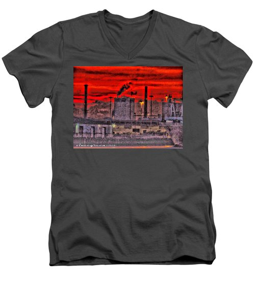 Port Of Savannah Men's V-Neck T-Shirt
