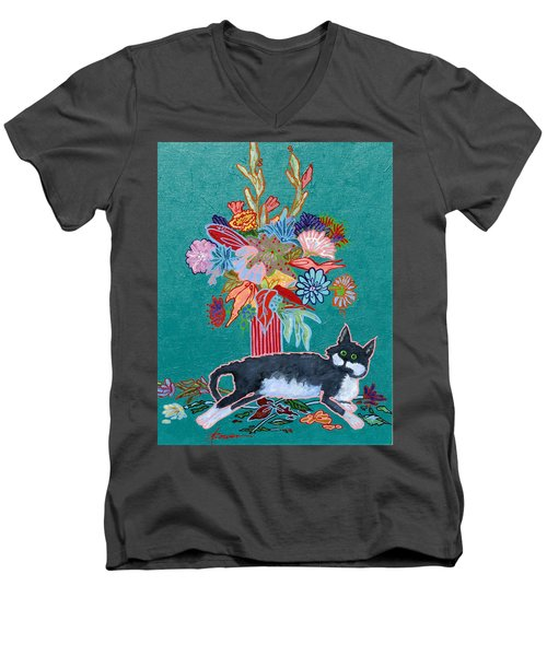 What Flowers Men's V-Neck T-Shirt
