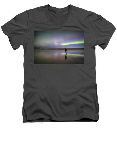 What Is Up And Down? Men's V-Neck T-Shirt by Alex Conu