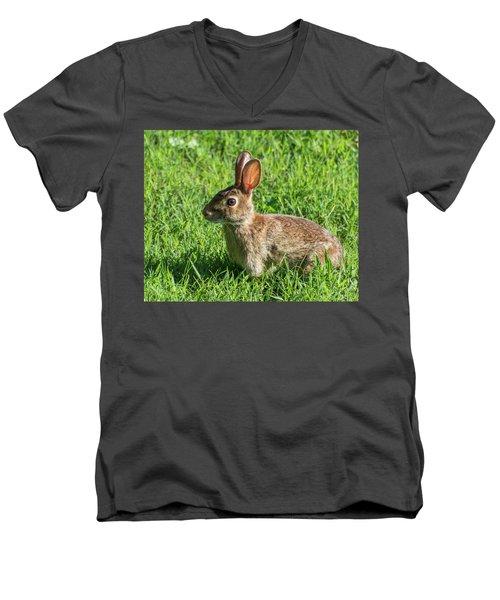 What? Men's V-Neck T-Shirt