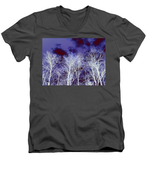 Men's V-Neck T-Shirt featuring the photograph What Lies Above by Shana Rowe Jackson