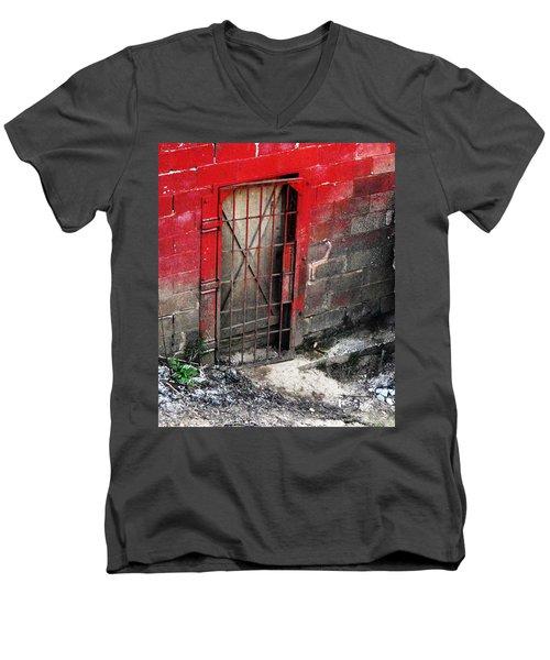 What Lies Behind The Door Men's V-Neck T-Shirt