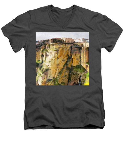 What Place Is This Men's V-Neck T-Shirt