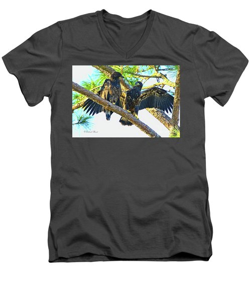 Men's V-Neck T-Shirt featuring the photograph What Shall I Say by Deborah Benoit