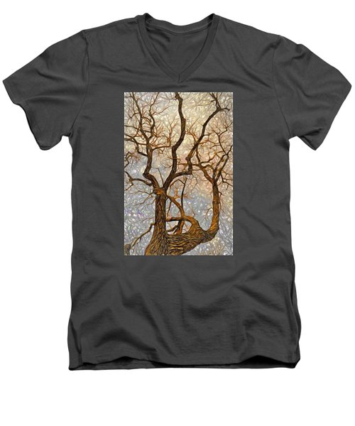 Men's V-Neck T-Shirt featuring the digital art What We See The Mind Believes by James Steele