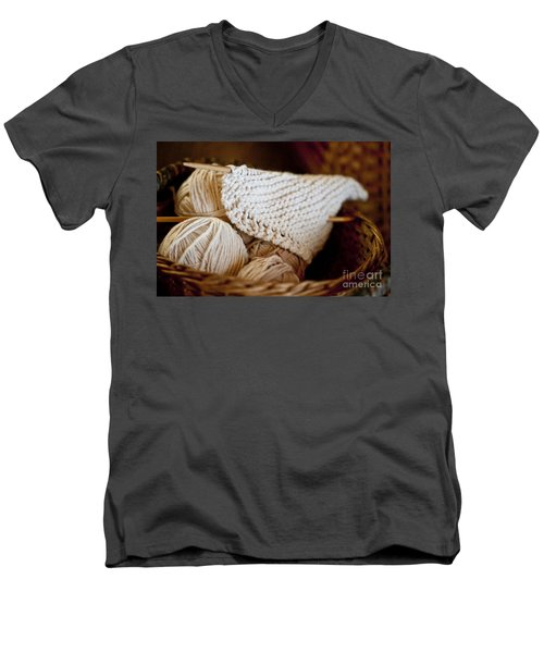 What Will It Be Men's V-Neck T-Shirt by Wilma  Birdwell