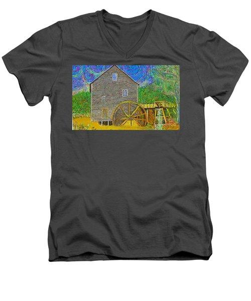 Water Wheel  Men's V-Neck T-Shirt