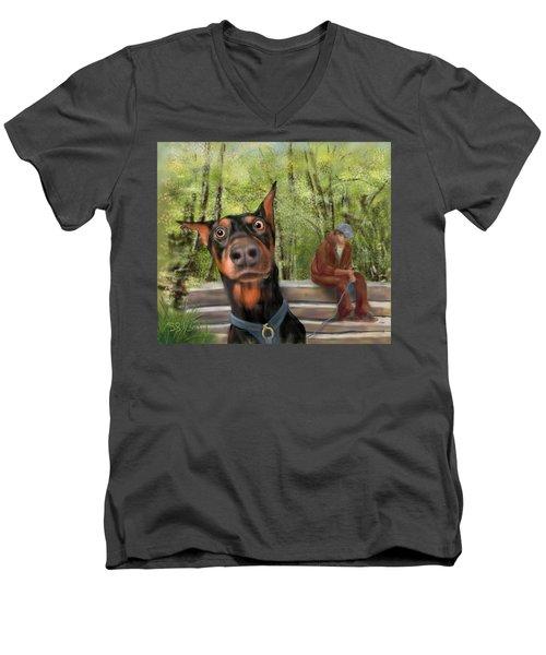 What's That I Hear? Men's V-Neck T-Shirt