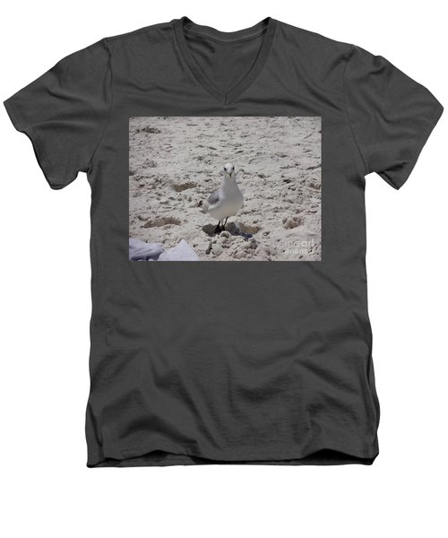 What's Up? Men's V-Neck T-Shirt by Megan Cohen