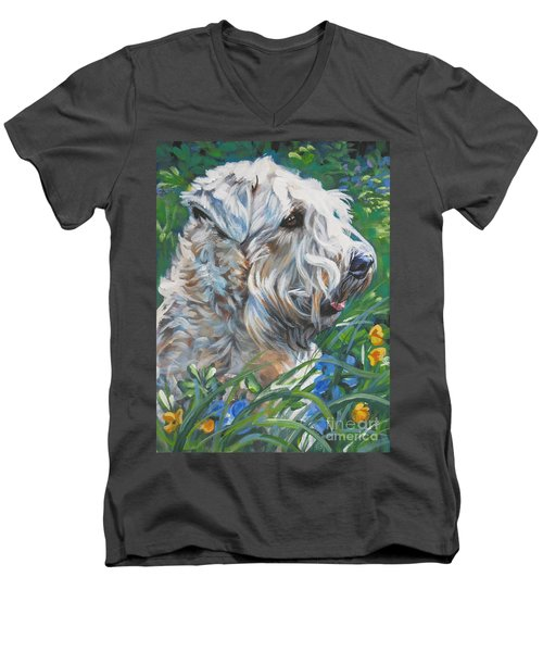 Wheaten Terrier Men's V-Neck T-Shirt
