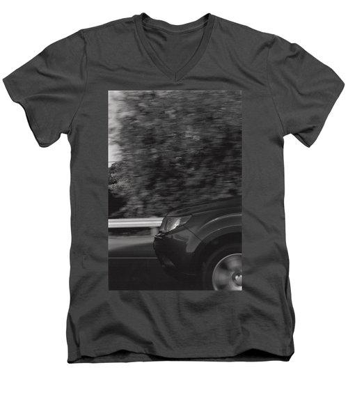 Wheel Blur Photograph Men's V-Neck T-Shirt