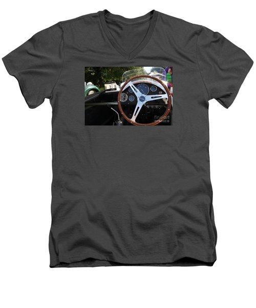 Wheel Men's V-Neck T-Shirt by Gary Bridger