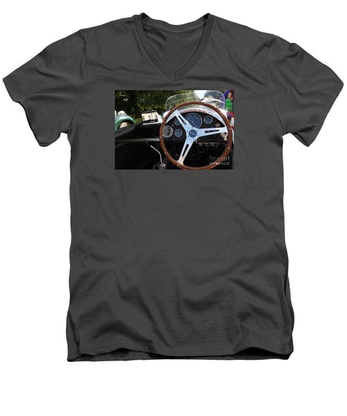 Men's V-Neck T-Shirt featuring the photograph Wheel by Gary Bridger