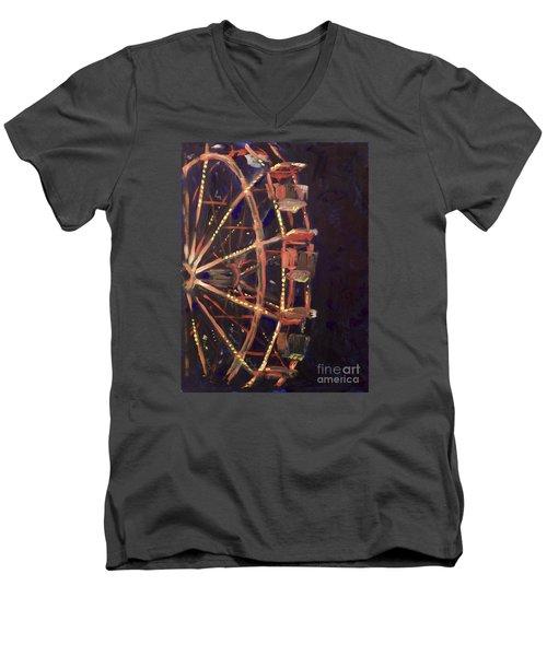 Wheel Men's V-Neck T-Shirt by Joseph A Langley