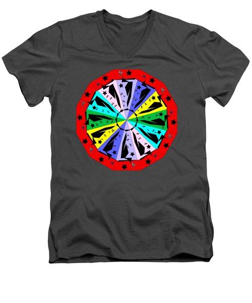 Wheel Of Color Men's V-Neck T-Shirt