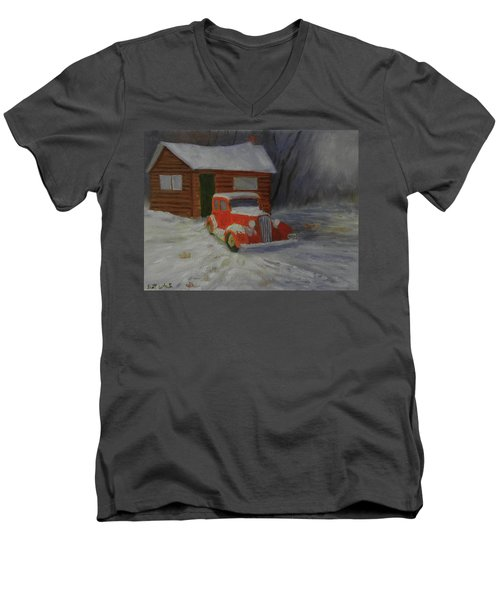 When Cars Were Big And Homes Were Small Men's V-Neck T-Shirt