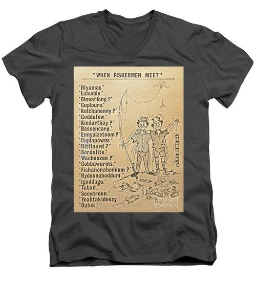 When Fishermen Meet Men's V-Neck T-Shirt