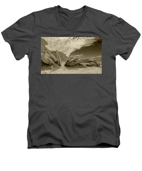 When God Cuts Slices..... Men's V-Neck T-Shirt