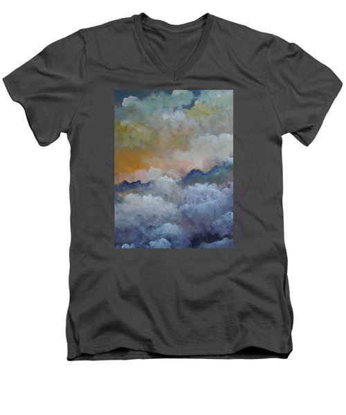 When I Consider Your Heavens Psalm 8 Men's V-Neck T-Shirt by Dan Whittemore