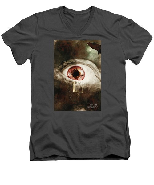 Men's V-Neck T-Shirt featuring the photograph When Souls Escape by Jorgo Photography - Wall Art Gallery