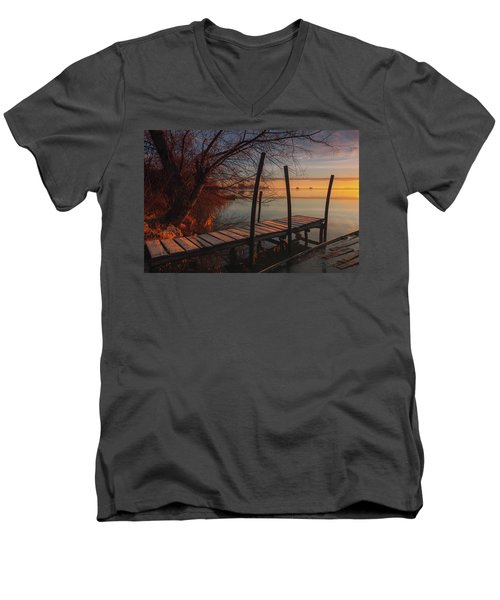 When The Light Touches The Shore Men's V-Neck T-Shirt