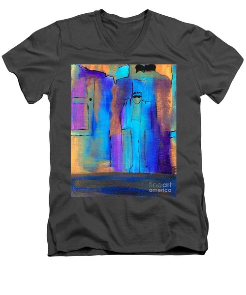 When The Lines Blur Men's V-Neck T-Shirt