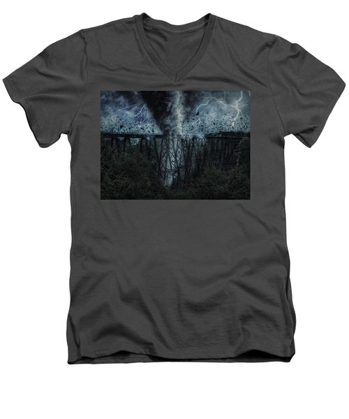 When The Tornado Hit The Bridge Men's V-Neck T-Shirt