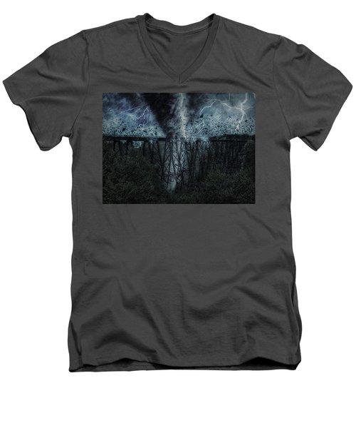 When The Tornado Hit The Bridge Men's V-Neck T-Shirt