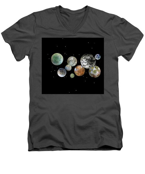 Men's V-Neck T-Shirt featuring the photograph When Worlds Collide by Tony Murray