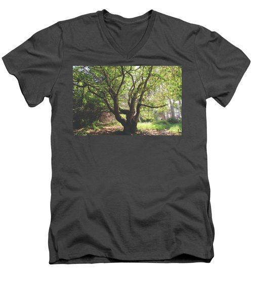 Men's V-Neck T-Shirt featuring the photograph When You Need Shelter by Laurie Search