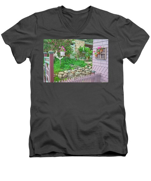 When You're In Idaho Springs, Colorado, Have A Beer With Us In Our Backyard. Cool Your Pipes Here. Men's V-Neck T-Shirt