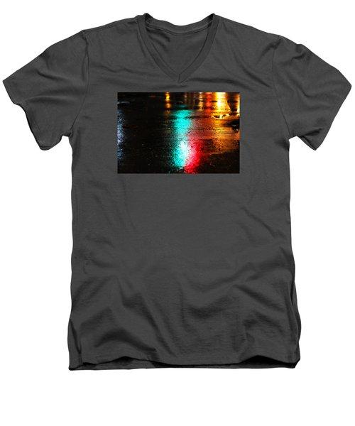 Whenever It Rains Men's V-Neck T-Shirt