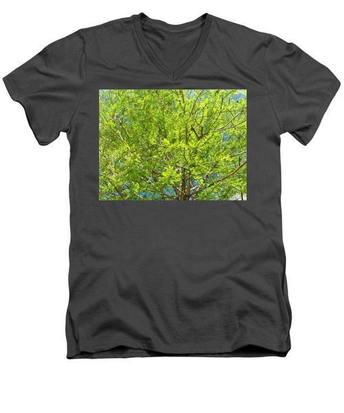 Where All The Green Things Are Men's V-Neck T-Shirt