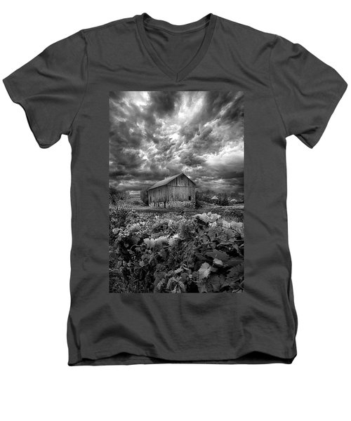 Where Ghosts Of Old Dwell And Hold Men's V-Neck T-Shirt by Phil Koch