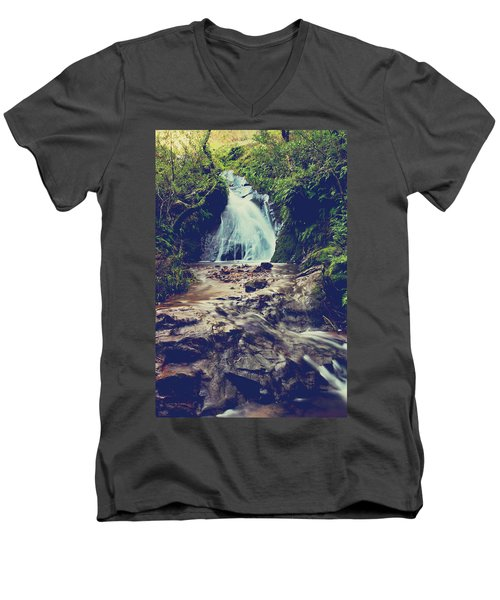 Men's V-Neck T-Shirt featuring the photograph Where It All Begins by Laurie Search