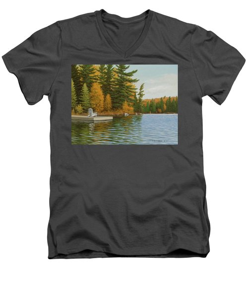 Where Life Is Easy Men's V-Neck T-Shirt