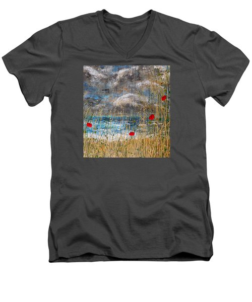 Where Poppies Blow Detail Men's V-Neck T-Shirt