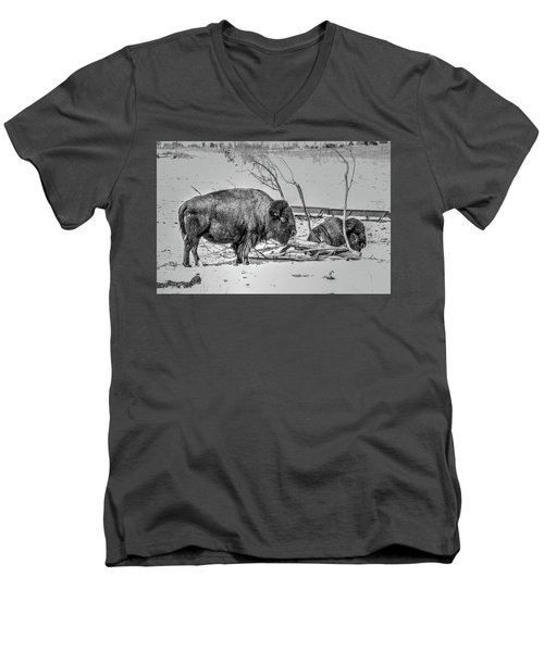 Where The Buffalo Rest Men's V-Neck T-Shirt