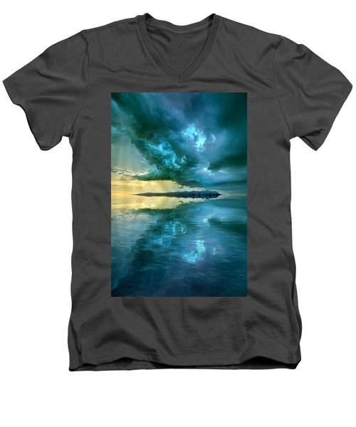Men's V-Neck T-Shirt featuring the photograph Where The Clock Stops Spinning by Phil Koch