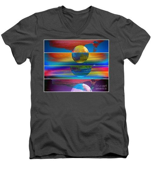 Where The Land Ends Men's V-Neck T-Shirt
