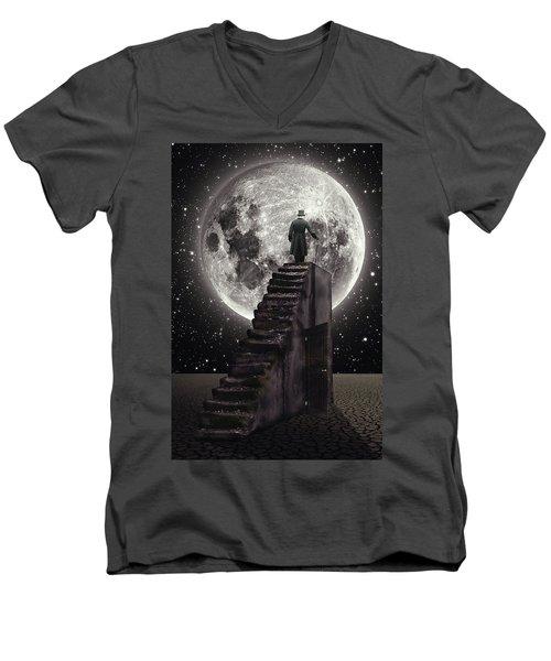 Where The Moon Rise Men's V-Neck T-Shirt