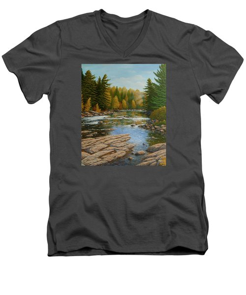 Where The River Flows Men's V-Neck T-Shirt