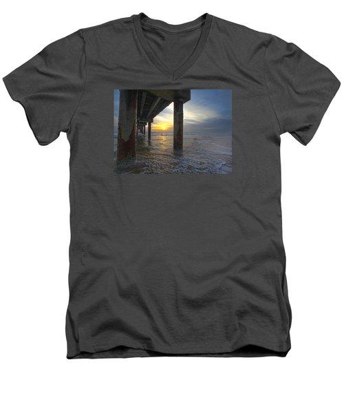Where The Sand Meets The Surf Men's V-Neck T-Shirt by Robert Och