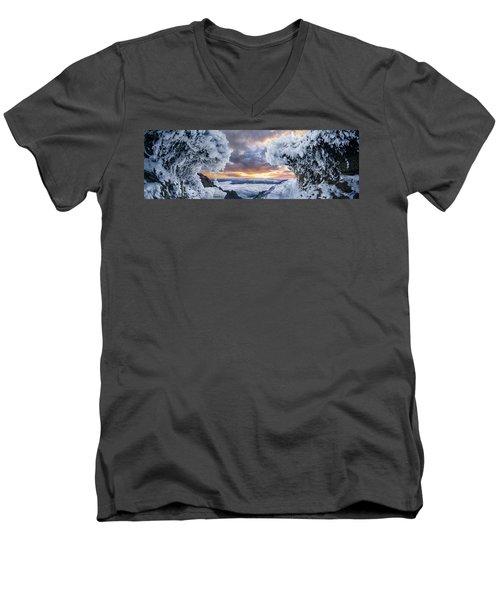 Where The Waves Collide Men's V-Neck T-Shirt