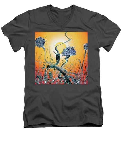 Where The Will Stills The Whispers Men's V-Neck T-Shirt