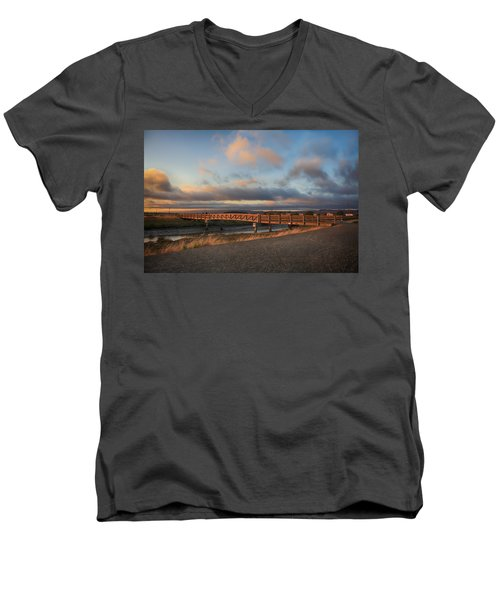 Where The Years Behind Are Piled Up High Men's V-Neck T-Shirt