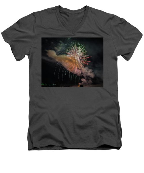 Men's V-Neck T-Shirt featuring the photograph Where There's Smoke by Bill Pevlor