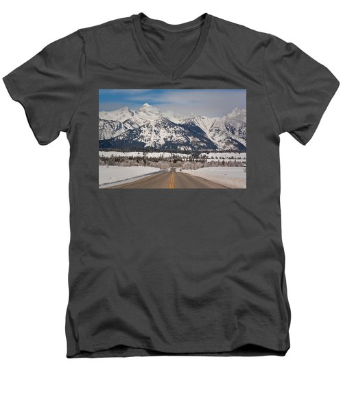 Where To? Men's V-Neck T-Shirt