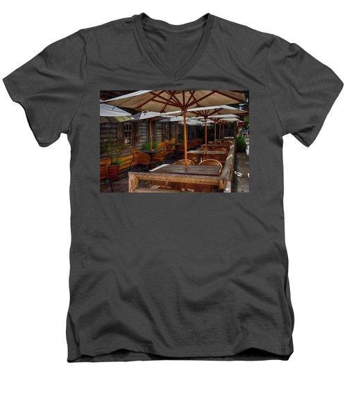 Where To Sit.... Men's V-Neck T-Shirt by Tricia Marchlik